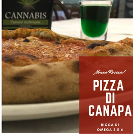 Pizza e Amaro di Canapa