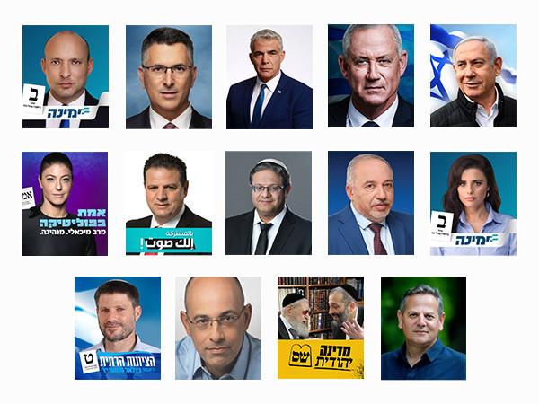 Медиаисследование - Израильские политики 2021