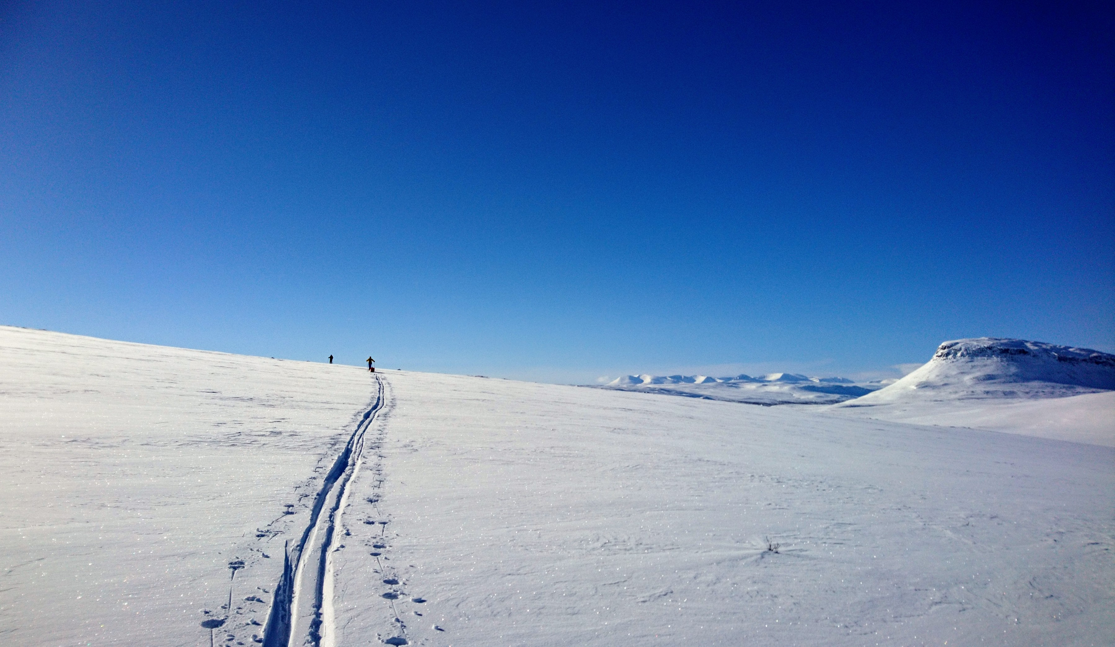 Skiing in Kilpisjarvi