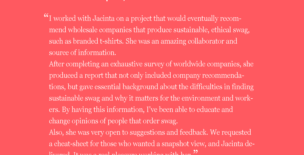 Jacinta FitzGerald sustainable fashion consultant