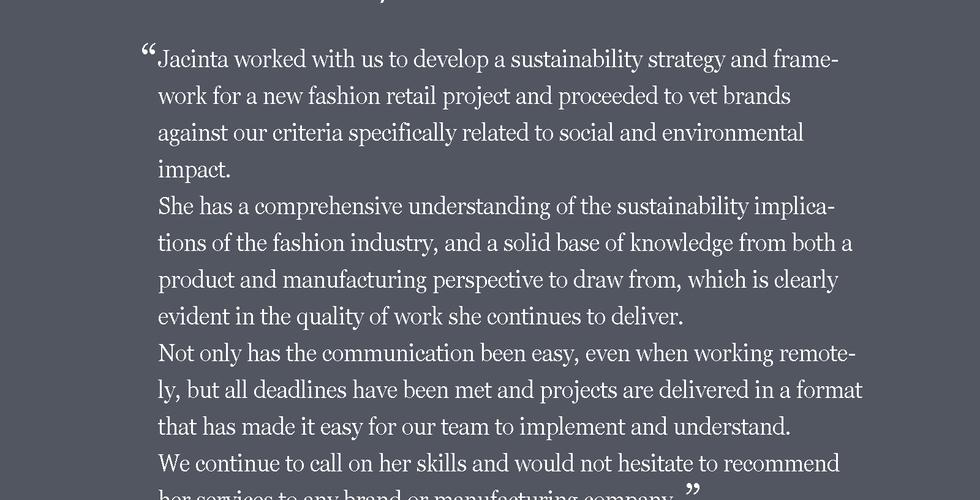 Jacinta FitzGerald sustainability consultant
