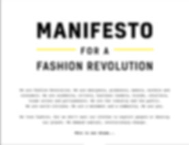 Fashion revolution, manifesto