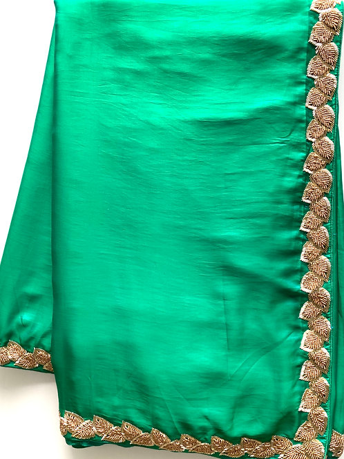 Green Dual Shade Party Wear