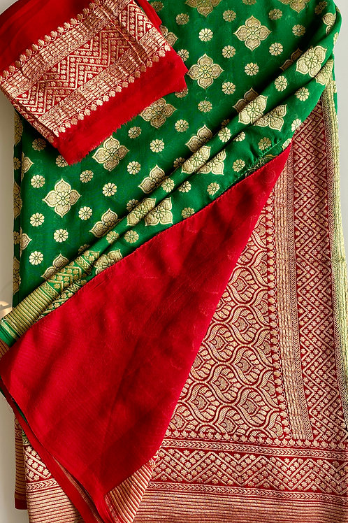 Georgette Banarasi Saree