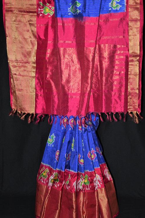 Traditional Pochampally Pure Silk with Kaddi border