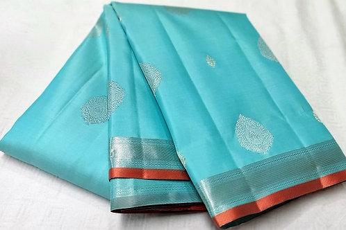Light Blue Colored Kanchipuram
