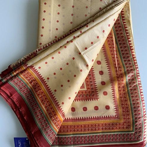 Light Weight Bangalore Paper Silk Sari