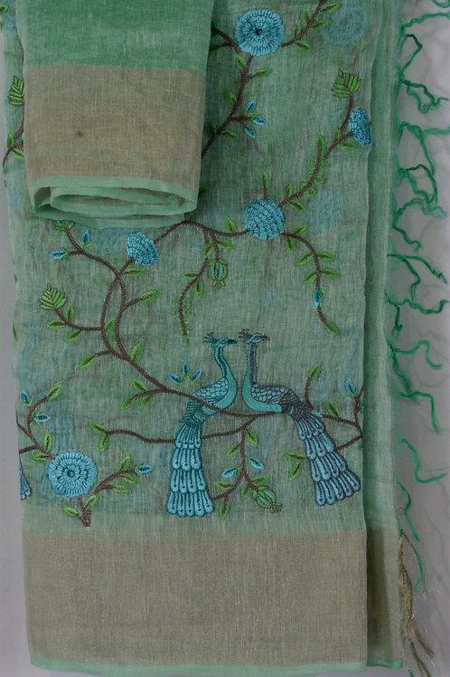 Sea Green Linen
