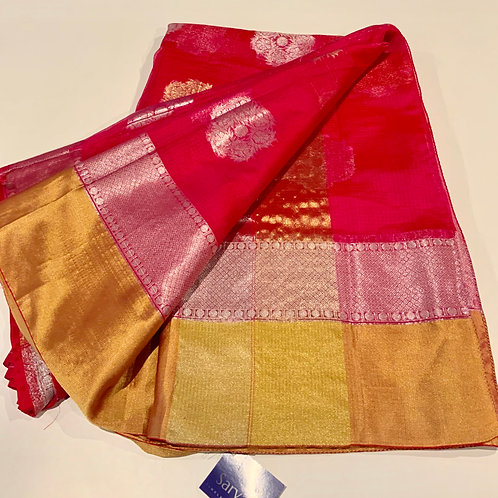 Pink Kota Doria Silk