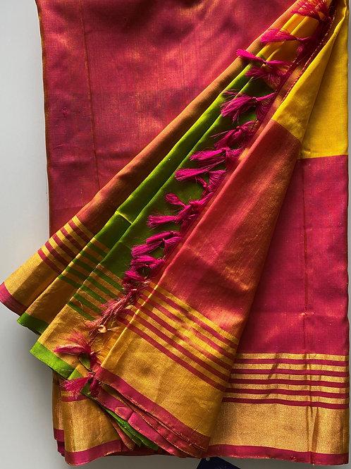 Vibrant Yellow Uppada Silk