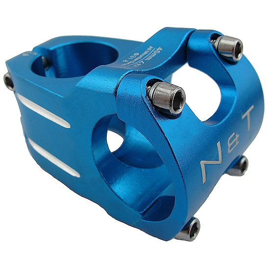 "NaT 40mm Race Stem 28.6mm 1-1/8"" to 31.8mm Handlebar BLUE"