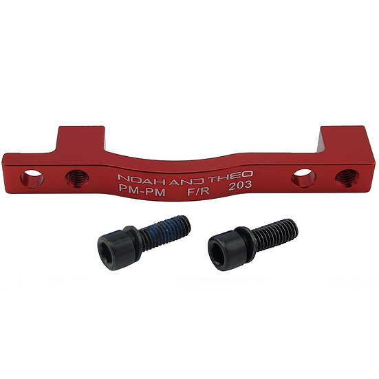 203mm FRONT PM/PM Disc Brake Adapter RED (Post Mount)