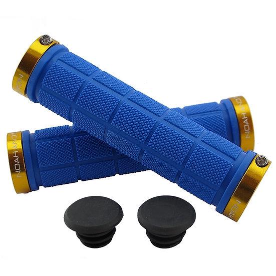 NOAHANDTHEO Double Lock On Handlebar Grips BLUE GOLD