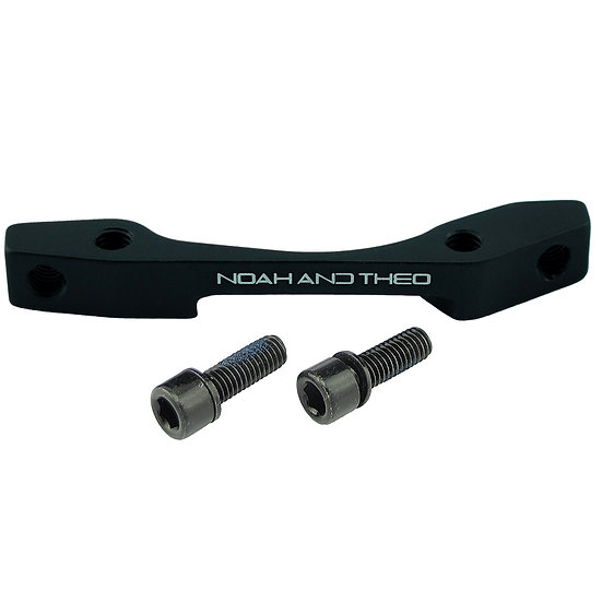 160mm FRONT IS/PM Disc Brake Adapter BLACK (International Standard - Post Mount)