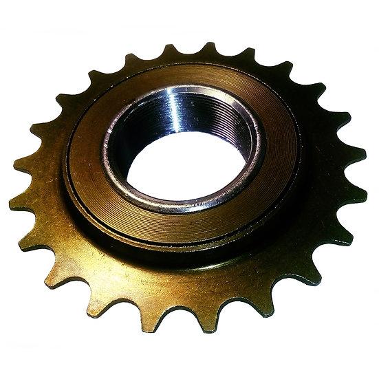 """22T 34mm 1/2"""" x 1/8"""" Brown Freewheel Bicycle Single Speed Cog Sprocket"""