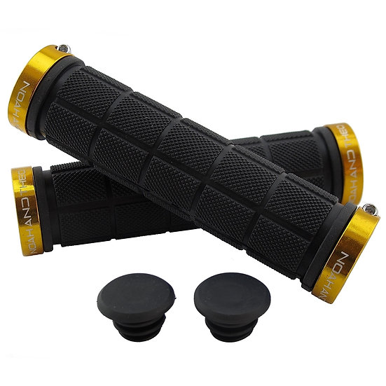 NOAHANDTHEO Double Lock On Handlebar Grips BLACK GOLD