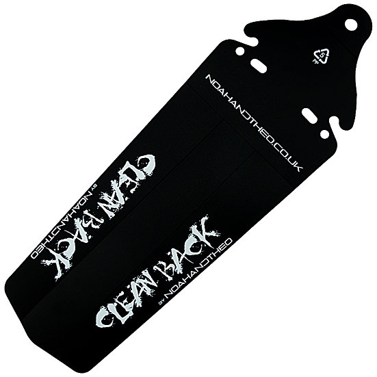 CLEAN BACK XL Rear Mountain Bike MTB Fender Mudguard BLACK