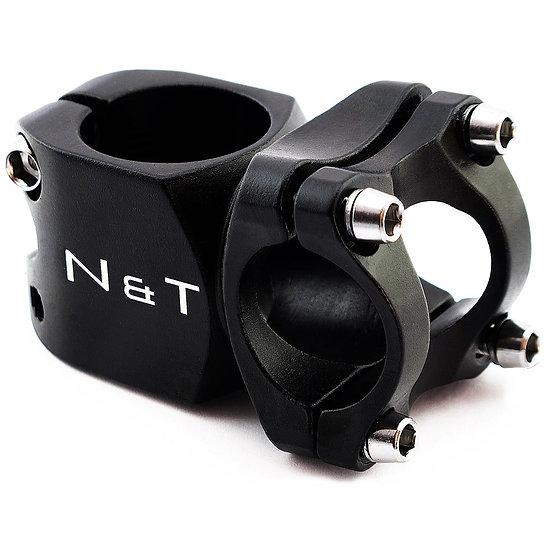 "NaT 40mm Short Stem 28.6mm 1-1/8"" to 25.4mm Handlebar BLACK"