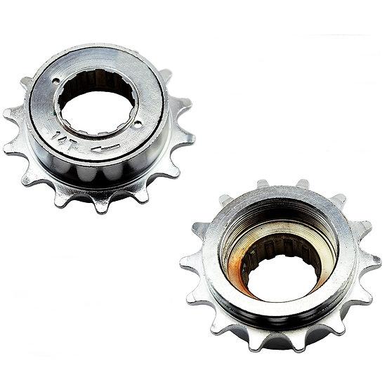 "14T 34mm 1/2"" x 1/8"" Silver Freewheel Bicycle Single Speed Cog Sprocket"