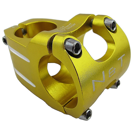 "NaT 40mm Race Stem 28.6mm 1-1/8"" to 31.8mm Handlebar GOLD"
