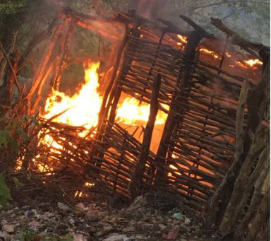 Tras muerte agricultor en comunidad de Independencia dominicanos queman varias casuchas de haitiana