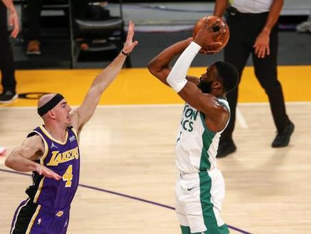 Jaylen Brown anota 40 y Celtics vencen a Lakers