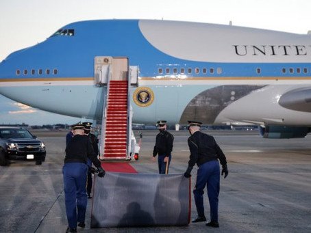 Donald Trump deja la Casa Blanca y partirá hacia Florida en sus últimas horas como presidente de los
