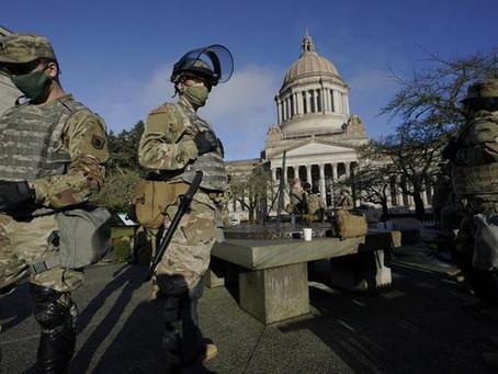 Despliegue militar ante amenaza en estados de EUA