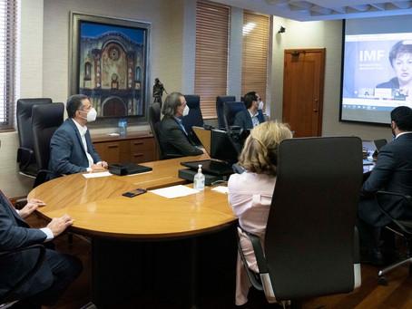 Gobernador BC participa encuentro con directora gerente del FMI y autoridades hemiferio occidental