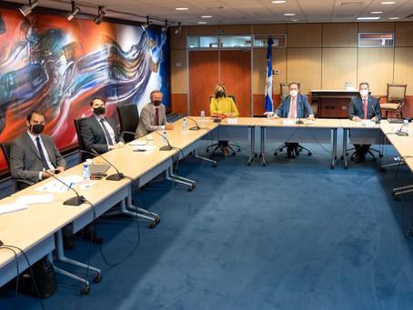 Gobernador Valdez Albizu se reúne con el embajador  de Francia en República Dominicana
