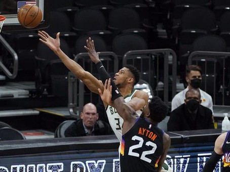 Suns remontan ante Bucks a pesar de los 47 puntos de Giannis