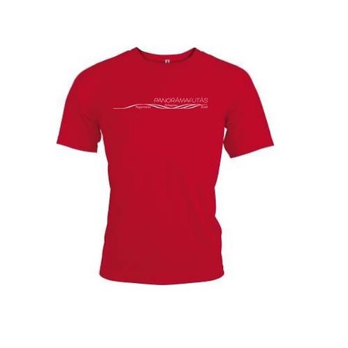 Panorámafutás póló piros (férfi)