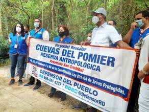 Defensora del Pueblo se opone a la explotación minera en las Cuevas del Pomier