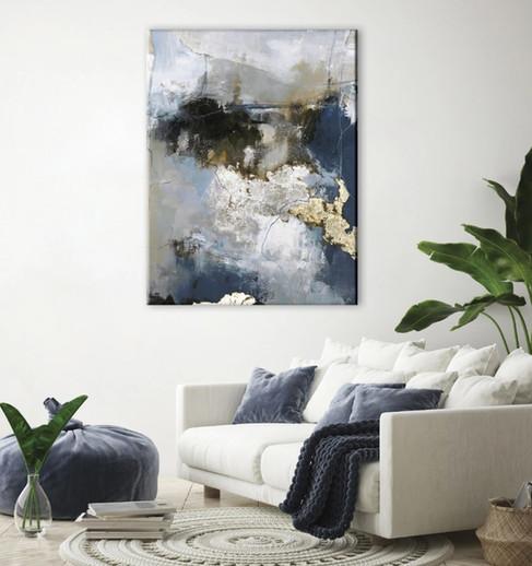Schilderij Waterfall 90x120cm