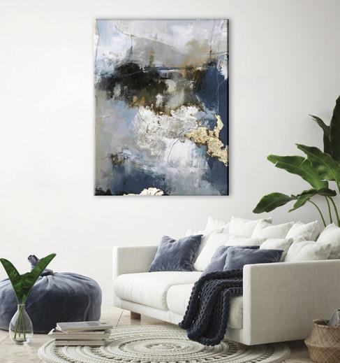 Schilderij  Waterfall  Mixed Media 90x118