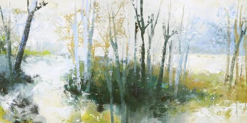 Schilderij Waterside 70x140cm