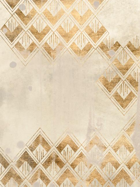 172028Z Deco Pattern in Cream III Resizable, in stock