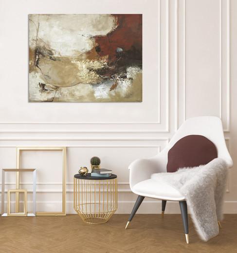 Schilderij Curvature 90x120