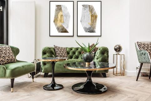 Duo Gold & Silver Foil Stripes Jennifer Goldberger  75x110