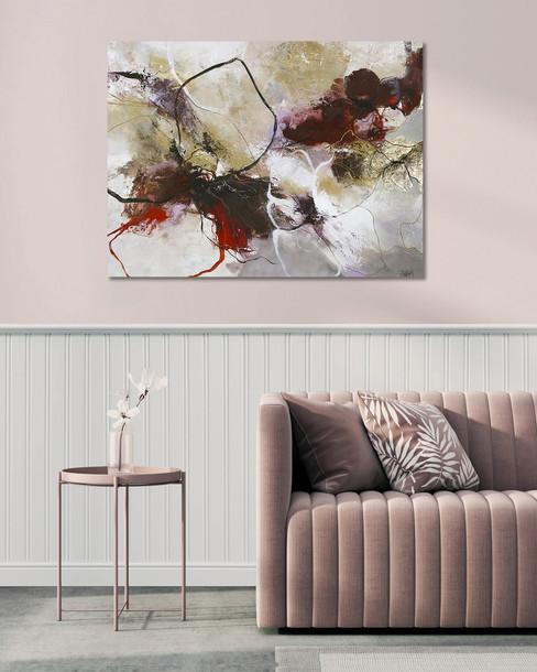 Schilderij Flower Fall 90x120cm