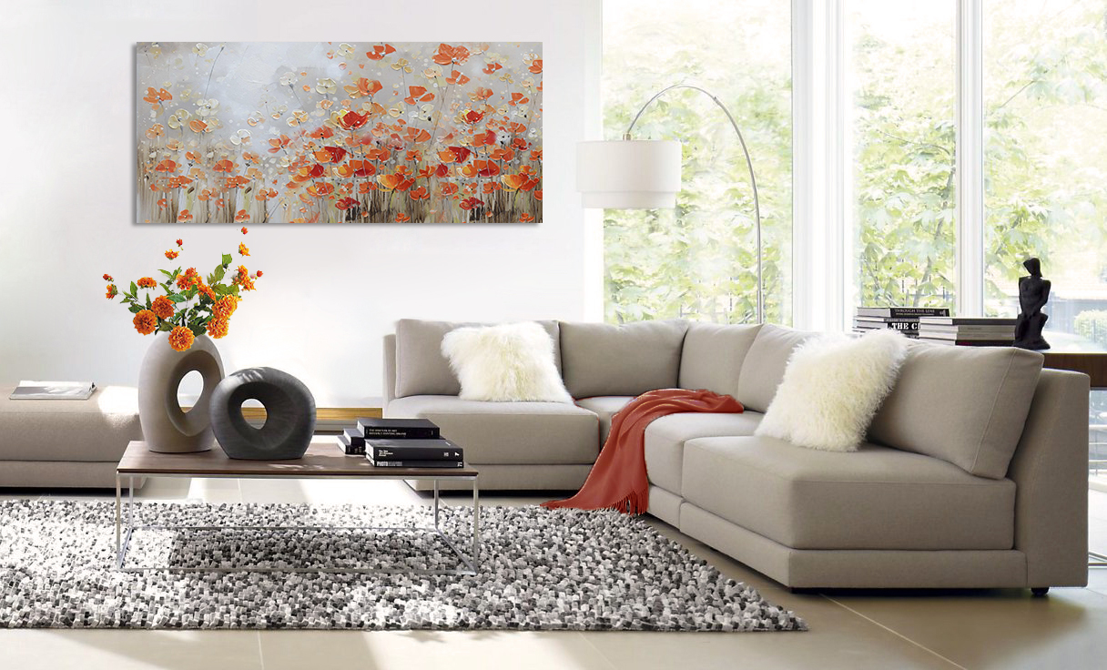 407791 Happy Red Anemones  80X180