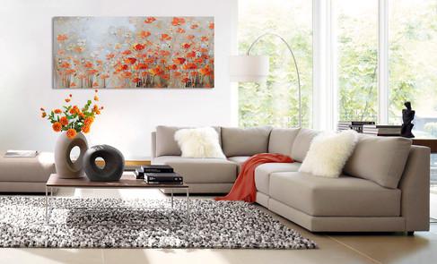 Schilderij 407791 Happy Red Anemones