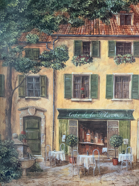 FABRICE DEVILLENEVE, COUNTRYARD CAFE II 60X80