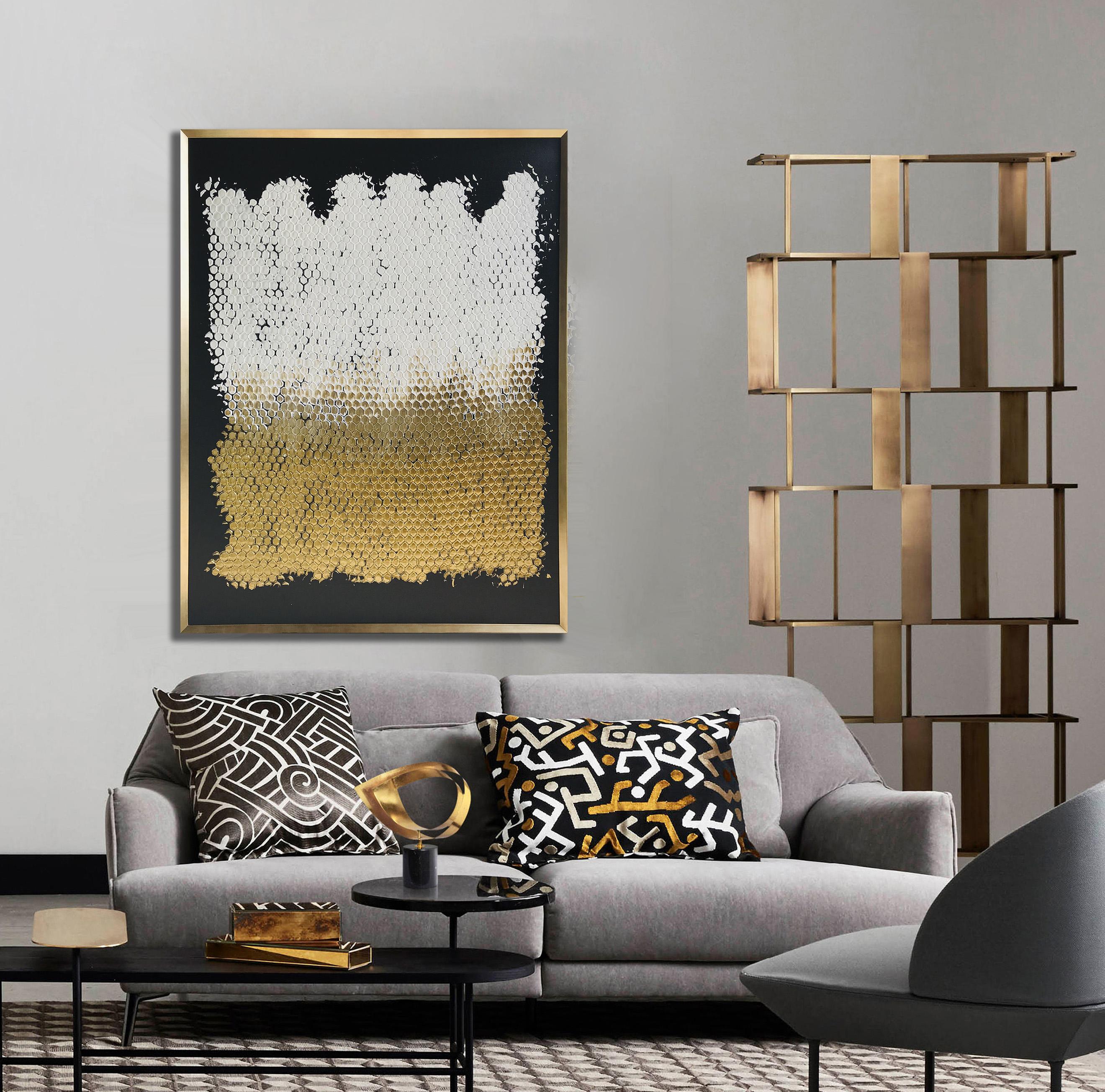 schilderij met gouden kader