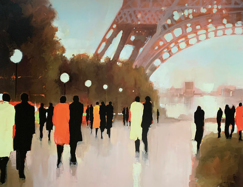 LORRAINE CHRISTIE, PARIS REMEMBERED 60X80