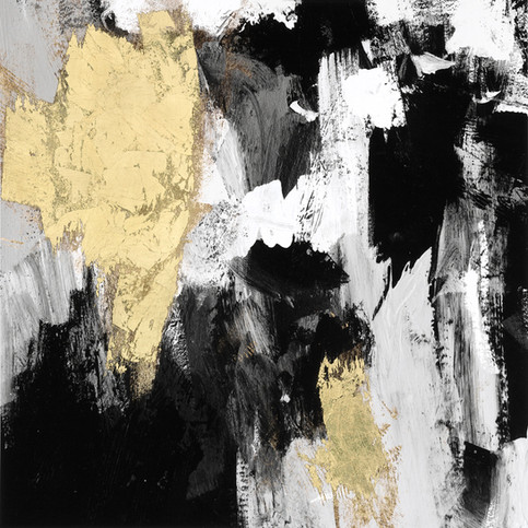 Neutral Gold Collage IV 80X80, in stock