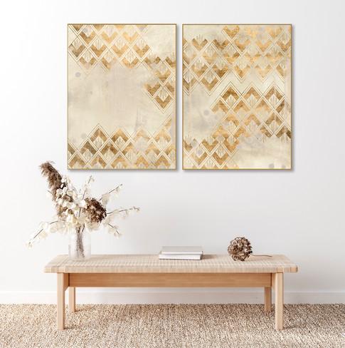 Duo Deco Pattern in Cream
