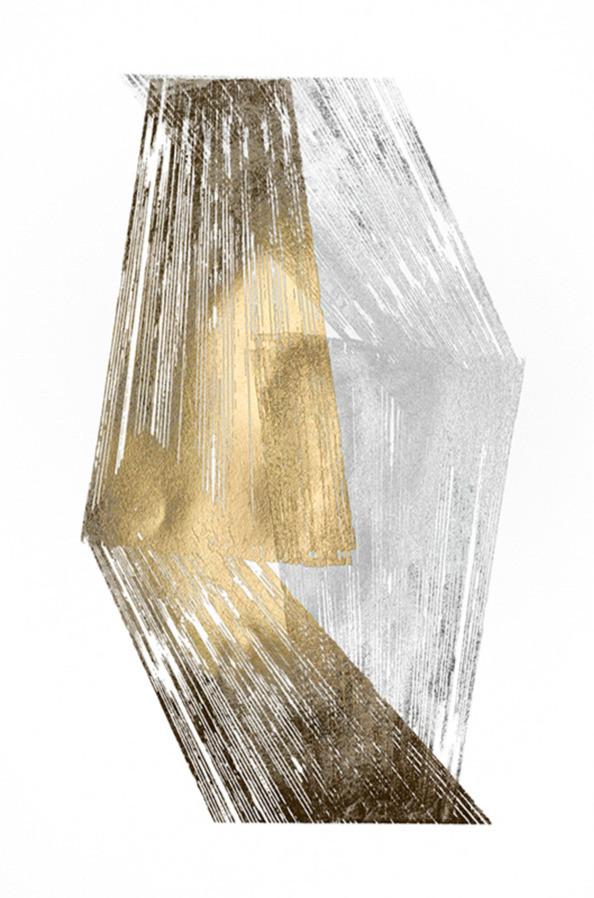Gold & Silver Foil Stripes Jennifer Goldberger 75x110