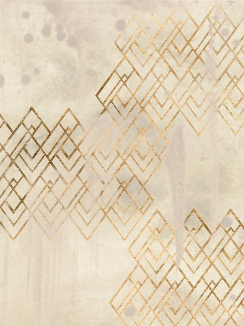 172026Z Deco Pattern in Cream I Resizable, in stock