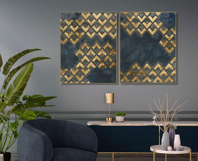 Duo Deco Pattern in Blue
